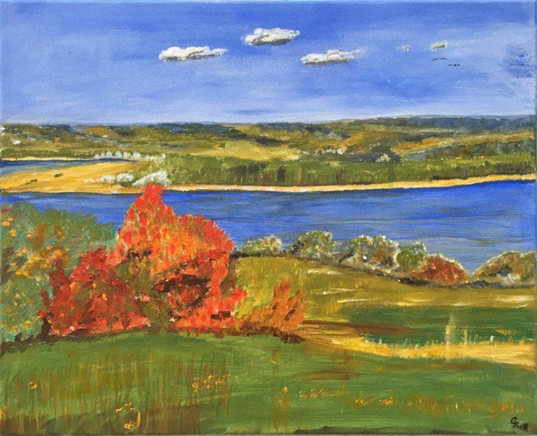 Landschaftsbild Acryl Leinwand auf Keilrahmen B/H 50cm x 40cm