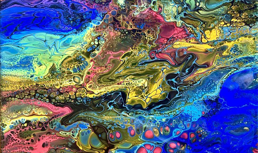 Acrylic Pouring-Arbeiten